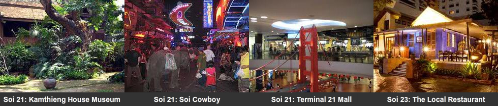 Soi 21 to 29 attractions
